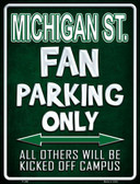 Michigan State Metal Novelty Parking Sign