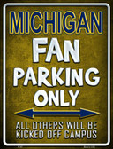 Michigan Metal Novelty Parking Sign
