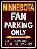 Minnesota Metal Novelty Parking Sign