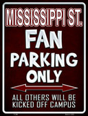 Mississippi State Metal Novelty Parking Sign