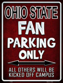 Ohio State Metal Novelty Parking Sign
