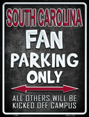 South Carolina Metal Novelty Parking Sign
