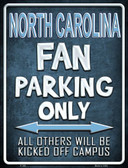 North Carolina Metal Novelty Parking Sign