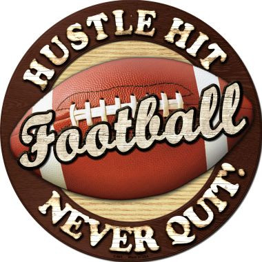 Football Novelty Metal Circular Sign