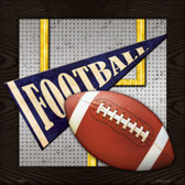 Football Novelty Metal Square Sign