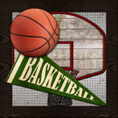 Basketball Novelty Metal Square Sign