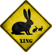 Rabbit Xing Novelty Metal Crossing Sign