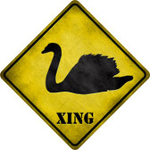 Swan Xing Novelty Metal Crossing Sign