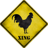 Rooster Xing Novelty Metal Crossing Sign