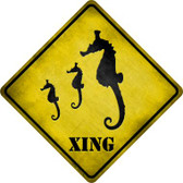 Seahorse Xing Novelty Metal Crossing Sign