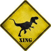 T-Rex Xing Novelty Metal Crossing Sign