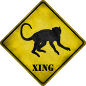 Monkey Xing Novelty Metal Crossing Sign