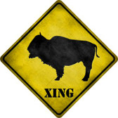 Buffalo Xing Novelty Metal Crossing Sign