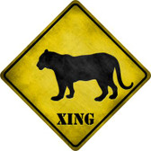 Tiger Xing Novelty Metal Crossing Sign