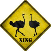 Ostrich Xing Novelty Metal Crossing Sign