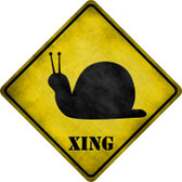 Snail Xing Novelty Metal Crossing Sign