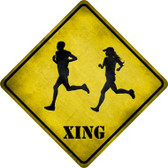 Runners Xing Novelty Metal Crossing Sign