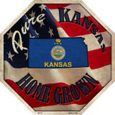 Kansas Home Grown Wholesale Metal Novelty Stop Sign BS-417
