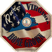 Virginia Home Grown Wholesale Metal Novelty Stop Sign