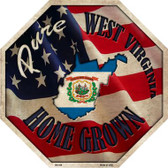 West Virginia Home Grown Wholesale Metal Novelty Stop Sign