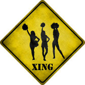Cheerleaders Xing Novelty Metal Crossing Sign