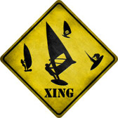 Board Sailer Xing Novelty Metal Crossing Sign