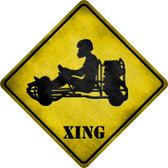 Go Karts Xing Novelty Metal Crossing Sign