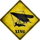 Hang Glider Xing Novelty Metal Crossing Sign