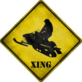 Snow Mobile Xing Novelty Metal Crossing Sign