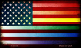 American Flag Rainbow Novelty Metal Magnet