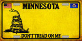 Minnesota Don't Tread On Me Novelty Metal License Plate