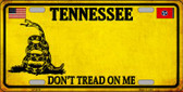 Tennessee Dont Tread On Me Novelty Metal License Plate