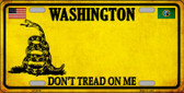 Washington Dont Tread On Me Novelty Metal License Plate