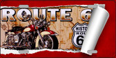 Route 66 Mother Road Scroll Novelty Metal License Plate