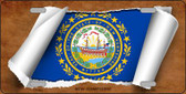 New Hampshire Flag Scroll Novelty Metal License Plate