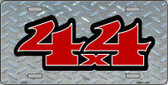 4 X 4 Diamond Metal Novelty License Plate LP-227