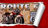 Route 66 Mother Road Scroll Novelty Metal Magnet