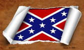 Confederate Flag Scroll Novelty Metal Magnet