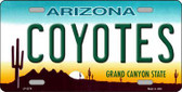 Coyotes Arizona Novelty State Background Metal License Plate