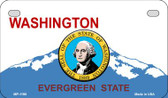 Washington Background With A Seal Metal Novelty Motorcycle License Plate