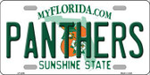 Panthers Florida Novelty State Background Metal License Plate