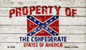 Property Of Confederate States Novelty Metal Magnet