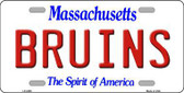 Bruins Massachusetts State Background Novelty Metal License Plate