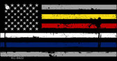 American Flag Police / Fire / EMS Novelty Metal Key Chain