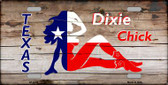 Dixie Chicks Texas Wood Novelty Metal License Plate