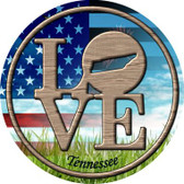 Love Tennessee Novelty Metal Circular Sign