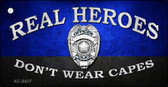 Real Heroes Blue Novelty Metal Key Chain
