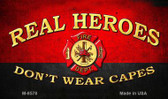 Real Heroes Red Novelty Metal Magnet