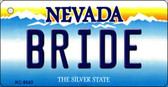 Bride Nevada Background Novelty Key Chain