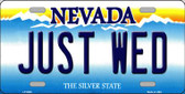 Just Wed Background Novelty Metal License Plate